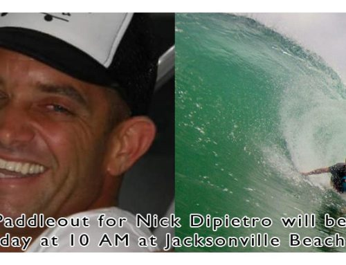 Farewell Paddle Out for Nick Dipietro