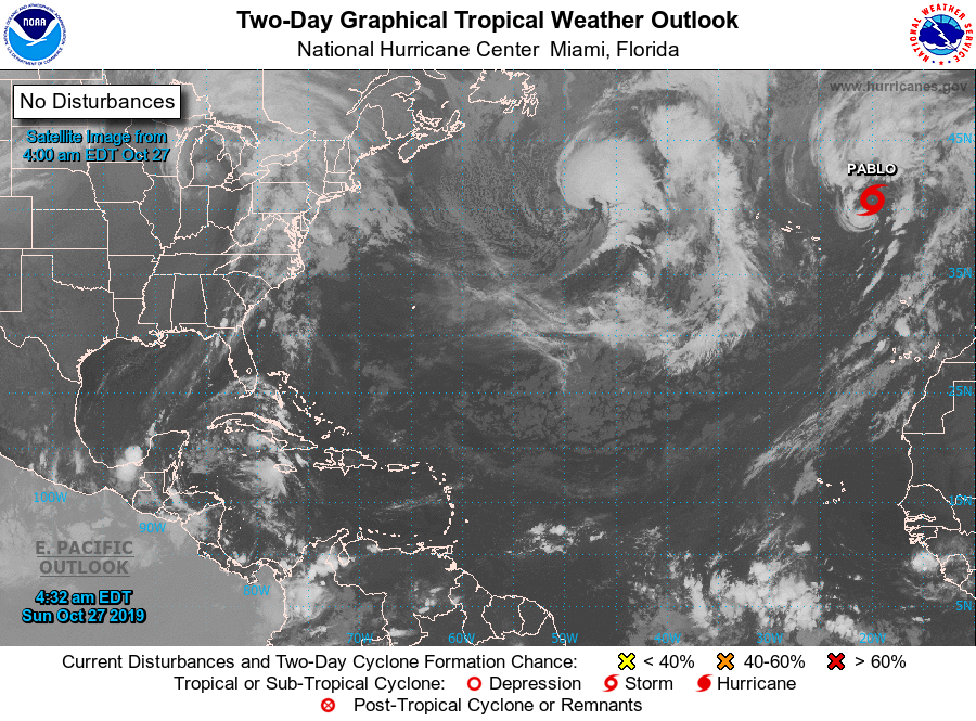 Tropical Weather Map of Atlantic Basin